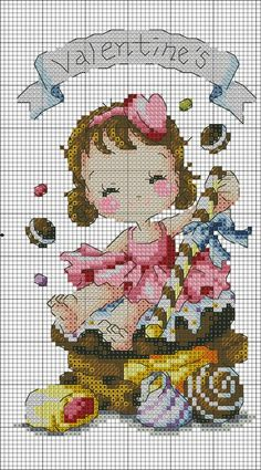 Cross Stitch Fairy, Cross Stitch Charts, Cross Stitch Patterns, Cross Stitch Gallery, Cross Stitch Designs, Cross Stitching, Cross Stitch Embroidery, Christmas Cross, Lana