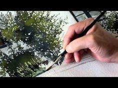 A watercolor painting of Hjortgatan, Lund, Sweden. - YouTube