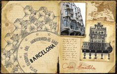 Travel journal, illustration by Elody Chappuy, via Behance