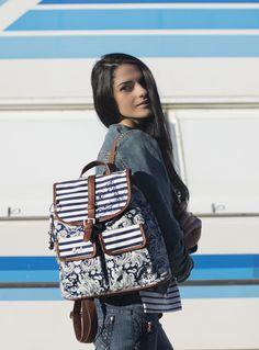 Mochila Estilo Urban Con Estampado Navy, Sakelo.com Trending Topics, Fashion Backpack, Backpacks, Bags, Backpack, Trends, Style, Handbags, Taschen