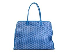 #Goyard Hardy PM Tote Bag (cat) Canvas/Leather Light Blue(BF066395). Authenticity guaranteed, free shipping worldwide & 14 days return policy. Shop more preloved brand items at eLADY: http://global.elady.com