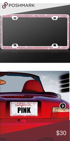 Pink Rhinestone License Plate Holder Just bought this last week at Lexus dealership- but decided to buy a different one online and the won't let me return it because it's been taken out of the packaging. Other