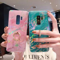 For Samsung Plus Case Luxury Marble Ring Holder Phone Case Cover fo – elegantonlinemarket Ipod Touch Cases, Bling Phone Cases, Galaxy Phone Cases, Phone Cases Marble, Marble Case, Cool Phone Cases, Phone Covers, Capas Samsung, Samsung S9