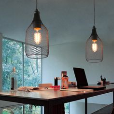 Unitary Brand Antique Black Metal Nets Shade Pendant light with 1 light Painted Finish Says 4x4x63. Just doesn't seem correct.