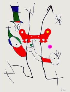 Le Plus Beau Cadeau Limited Edition Print - Etching on Arches Paper Hand Signed - Lower right Size - 18.12 x 24.43 Etching by Joan Miro for the association to finance the training of guide dogs for the blind.Asking Price: $8,200