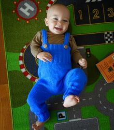 Our Ash Grove: High Waisted baby overalls