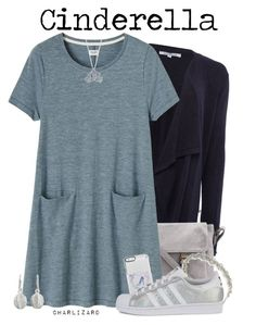 """Cinderella"" by charlizard ❤ liked on Polyvore featuring Annabelle, Toast, Jennifer Behr, Disney, NOVICA and adidas Originals"