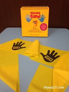 How to use the Handee Band to help kids with their sensory and motor skills. Great for heavy work, hand/upper body/core strengthening, motor planning, bilateral coordination, and more! #pediOT