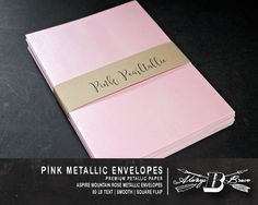 Hey, I found this really awesome Etsy listing at https://www.etsy.com/listing/270331447/25-pink-metallic-a7-envelopes-invitation