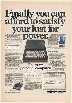 Sinclair ZX81 Personal Computer Ad (1982).