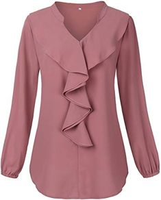 online shopping for HNNATTA Women V Neck Pleated Chiffon Blouse,Casual Office Work Chiffon Blouse Shirts Tops from top store. See new offer for HNNATTA Women V Neck Pleated Chiffon Blouse,Casual Office Work Chiffon Blouse Shirts Tops Shirts & Tops, Shirt Blouses, Long Shirts, Party Gowns Online, Woolen Tops, Pink Blouses, Plus Size Blouses, Indian Dresses Online, Fashion Clothes