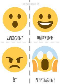Dzieckiem bądź: Emocje dla dzieci Polish Language, Alphabet Design, Preschool Activities, Kindergarten, Letters, Education, Symbols, Kids, Indie