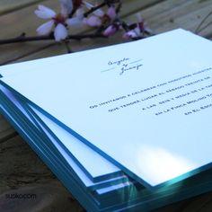 Invitaciones de boda de susiko