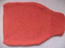 Pucksack Strampelsack Schurwolle 50cm gestrickt