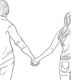 How to Draw People Holding Hands Step by Step Figures People FREE Online Drawing Tutorial Added by Dawn March 9 2009 pm Cute Couple Drawings, Couple Sketch, Love Drawings, Art Drawings, Drawing Art, Cartoon Drawings Of People, Sketches Of People, Drawing People, Love Pictures