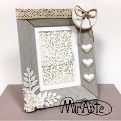 idea for a frame ♥ Cornici decorate, Cornici fatte a
