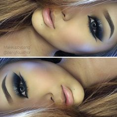 Silver Smokey Eye - Love the Eyeliner and Lashes - This is Beautiful