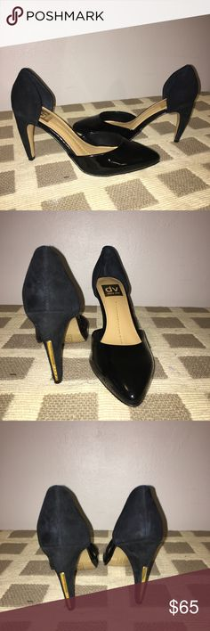 💥NWOT DV DOLCE VITA Patent & Suede Size 8.5 Never worn size 8.5 🔥 Unique gold accent on heel. Patent leather front, Suede back & heel.  Brand new with no faults. DV by Dolce Vita Shoes Heels