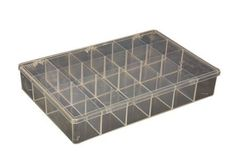 Compartments - 18(b), Overall size - 13 1/8 x 9 x 2 5/16 (W x H x D), Satchel Style Case (1 Each) by RSC. $15.04. Clear Parts Box - Ideal for organizing, storing and protecting small parts. Clear, high impact plastic lets you see inside and find parts quickly. Box will not break if dropped.