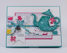 Stampin Up Cups and Kettles card by Kristi @ www.stampingwithkristi.com