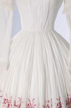 A summer dress, 1850s, detail