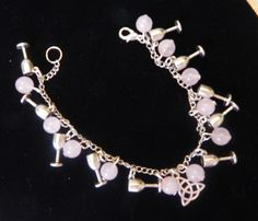 10 of Cups Rose Quartz charm bracelet.  Pure love and commitment.
