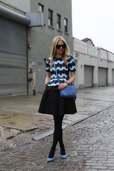 Atlantic Pacific, Winter Looks, Flare Skirt, Skater Skirt, Tights, Mini Skirts, Hipster, Chic, How To Wear