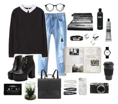 """""""RANDOM THINGS"""" by cooltured on Polyvore featuring moda, MANGO, Dr. Martens, UNIF, Danielle Foster, Forever 21, Uncommon, Aesop, Homage y Fuji"""