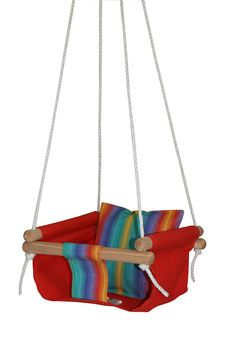 I wonder if Kyla would let me swing my baby in a homemade swing?