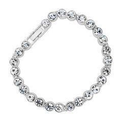 My wedding bracelet - Jon Richard Large crystal style tennis bracelet- at Debenhams.com