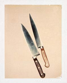 Andy Warhol Knives, 1981 polaroid photograph 4 x 3 1/4 inches; 10.2 x 8.3 cm PK 12368 [Paul Kasmin Gallery]