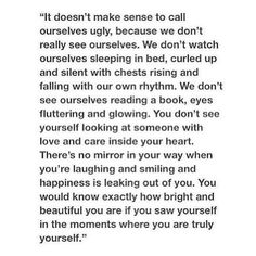 We shouldn't call ourselves ugly
