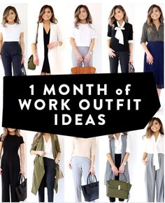 30 days of work outfit ideas - 1 month of work outfits Summer Office Outfits, Stylish Work Outfits, Casual Winter Outfits, Work Casual, Cool Outfits, Fashion Outfits, Conference Outfit, Work Attire, Office Attire