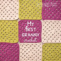 My first crochet granny for beginners!  Step by step video tutorial