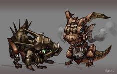 Steampunk Baby Dragons by Hozure on DeviantArt