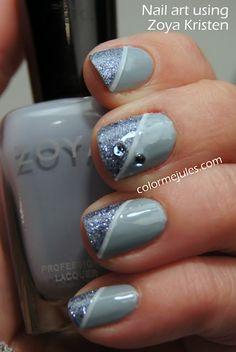 nail art with zoya kristen -