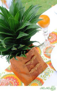 Tropical Orange and Green Graduation Party www.Mar-Maladies.com