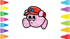 Glitter Kirby how to coloring and drawing for Kids & Color pages Fun At Work, Drawing For Kids, Coloring For Kids, Glitter, Paint, Drawings, Coloring Pages For Kids, Paintings, Paint For Walls