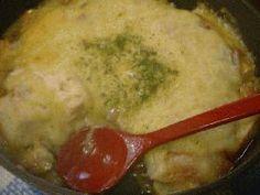 tofu gratin 豆腐のとろろグラタン (tofu, scallion, shiitake, sweet potato, cheese)