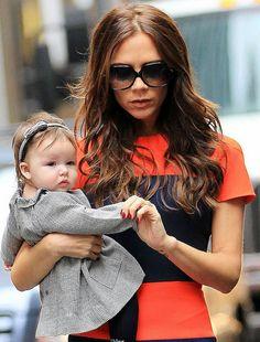Harper, la figlia di Victoria Beckham, modella a nove mesi?