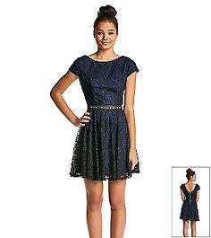 88f76f73c Blue lace and studded belt Studded Belt, Blue Lace, Lace Dress, Dress Lace