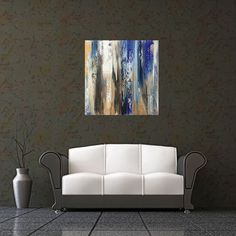 A personal favourite from my Etsy shop https://www.etsy.com/listing/400117461/free-shipping-large-blue-abstract