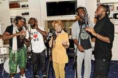 Lys Assia, 88, winner of the first Eurovision Song Contest in 1956, wants to represent Switzerland in 2013 with another Ralph Siegel tune- with four rappers on stage! Sources say the track will also include whistling. She's come a long way and apparently will never stop! Camp hearts will love this :))  Pic: blick.ch