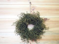 PRIMITIVE Green Herbal Sweet Annie Wreath  Small by theflowerpatch, $21.00