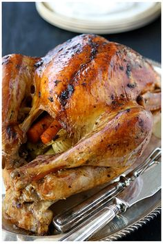 Roasted Turkey with Herb Butter & Roasted Shallots - This ...