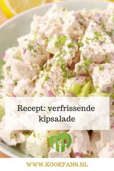 This fresh chicken salad is delicious on a baguette or in a sheet of butter lettuce! Cold Dishes, Good Food, Yummy Food, Tapas, Good Healthy Recipes, Light Recipes, No Cook Meals, Food For Thought, Salad Recipes