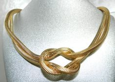 Vintage 1970s Christian Dior Signed Serpentine Love by JeweledLuv