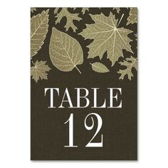 Rustic Burlap Fall Wedding Table Number Cards