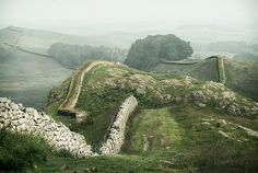 Hadrian's Wall roughly divides Scotland and England