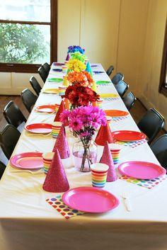 Rainbow Art Birthday Party Ideas | Photo 1 of 21
